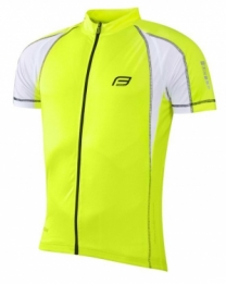 Force T10 wielershirt korte mouw geel fluor